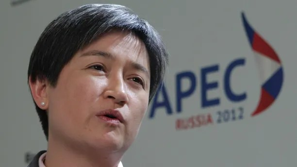 Australian Finance Minister Penny Wong speaks during an interview after a meeting between Finance Ministers of the Asia-Pacific Economic Cooperation (APEC) in Moscow August 30, 2012.  Asia-Pacific finance officials agreed that any protectionist measures, especially in the agricultural sector, are not helping global economic growth, Russia's Finance Minister Anton Siluanov said on Thursday. REUTERS/Maxim Shemetov (RUSSIA - Tags: POLITICS BUSINESS) - GM1E88U1Q5Q01