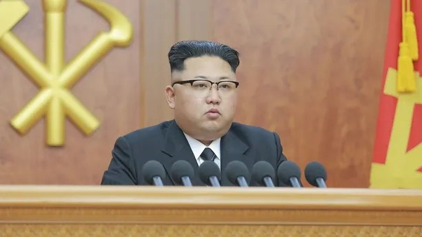 North Korean leader Kim Jong Un gives a New Year address for 2017 in this undated picture provided by KCNA in Pyongyang on January 1, 2017. KCNA/via ReutersATTENTION EDITORS - THIS IMAGE WAS PROVIDED BY A THIRD PARTY. EDITORIAL USE ONLY. REUTERS IS UNABLE TO INDEPENDENTLY VERIFY THIS IMAGE. SOUTH KOREA OUT. NO THIRD PARTY SALES. NOT FOR USE BY REUTERS THIRD PARTY DISTRIBUTORS.Ê - RC181562F900