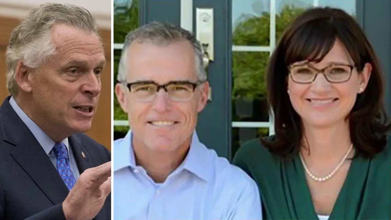 Image result for photos of Andrew Mccabe and jill mccabe