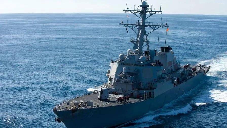 USS John McCain collides with merchant ship
