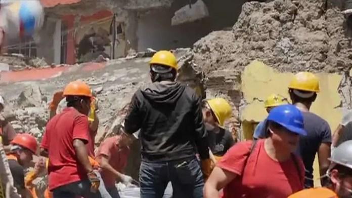Region still reeling from earlier, stronger earthquake