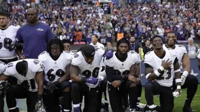 Fifty-five percent of voters in the latest Fox News poll see kneeling during the national anthem as an inappropriate form of protest. That's down six percentage points from 61 percent who felt that way a year ago (September 2016).