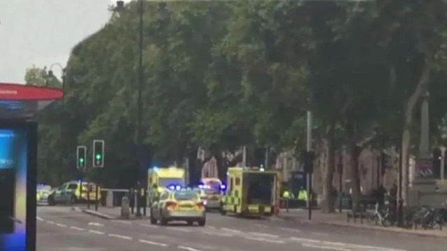 Emergency services respond to incident outside the Natural History Museum.