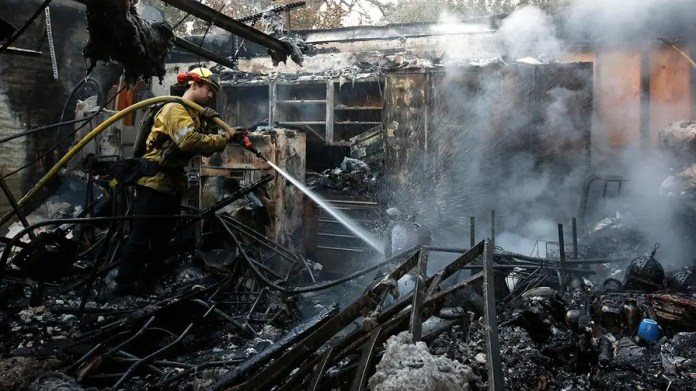 Napa Valley on edge as winds stoke flames.