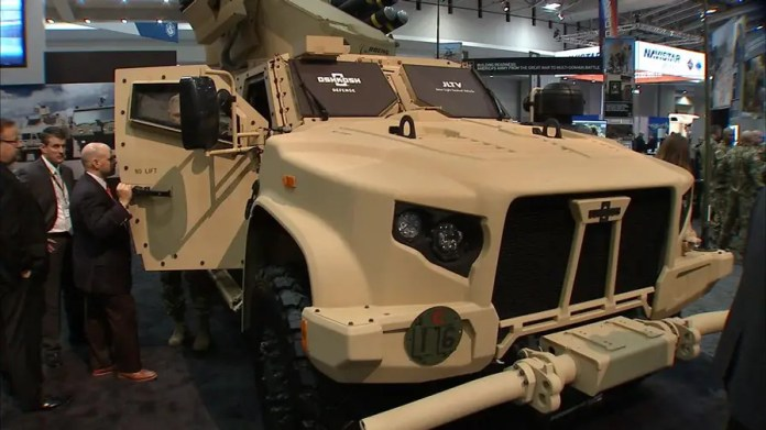 Fox Firepower: Defense Specialist Allison Barrie shares her top picks of high-tech military vehicles on display at AUSA 2017 including a fuel-cell powered Chevy truck and a self-driving Polaris MRZR.