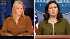 Fox411: On her Netflix talk show, Chelsea Handler slammed White House Press Secretary Sarah Sanders calling her a 'harlot' and a 'trollop.'