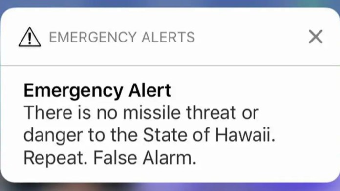 Man describes trying to calm his family after receiving false alarm about missile threat.