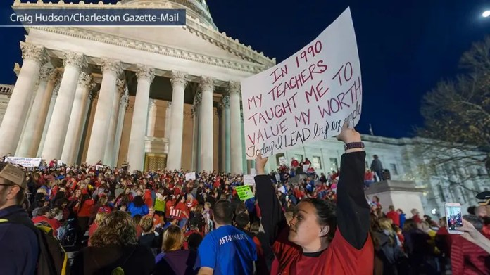 West Virginia teachers are striking over better pay and benefits.