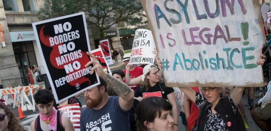 Image result for abolish ice protest