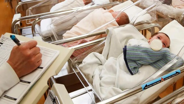 US birth rate falls to lowest number in 32 years