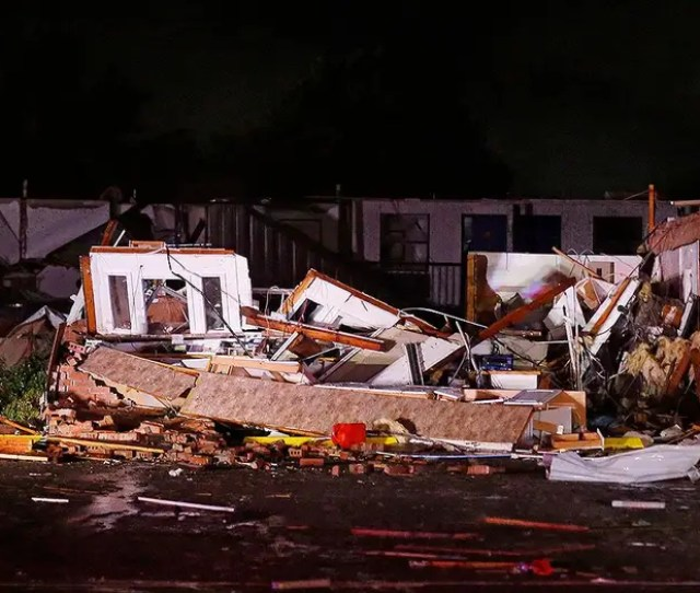 Tornado Levels Motel And Mobile Home Park In Oklahoma Leaving Two Dead