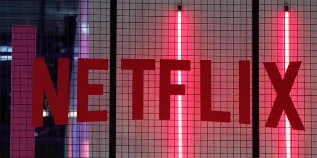 The logo of American entertainment company Netflix is pictured at an event in Netflix.