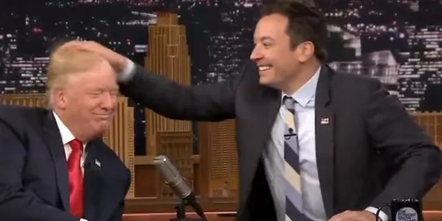 Late-night host Jimmy Fallon got int trouble for his controversial 2016 hair ruffle interview with Donald Trump.