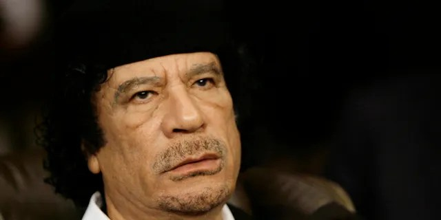 Libyan leader Moammar al-Qaddafi is seen in Damascus, Syria, in 2008. He was assassinated in 2011. (Associated Press)