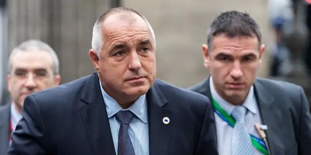 Bulgaria's Prime Minister Boyko Borissov arrives for a meeting of EPP members ahead of an EU summit.