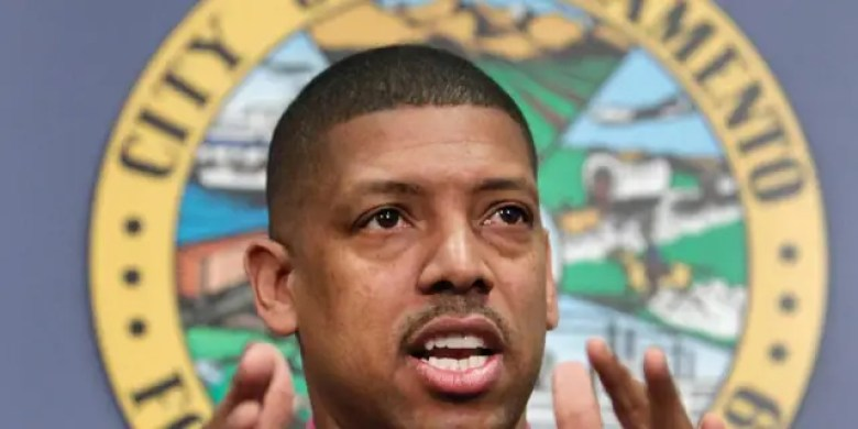 In this Jan. 9, 2013 file photo, Sacramento Mayor Kevin Johnson speaks during a news conference in Sacramento, Calif. (AP Photo/Rich Pedroncelli)