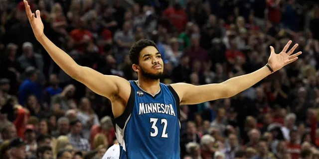 Karl-Anthony Towns made a startling revelation on social media Tuesday. (AP Photo/Steve Dykes, File)