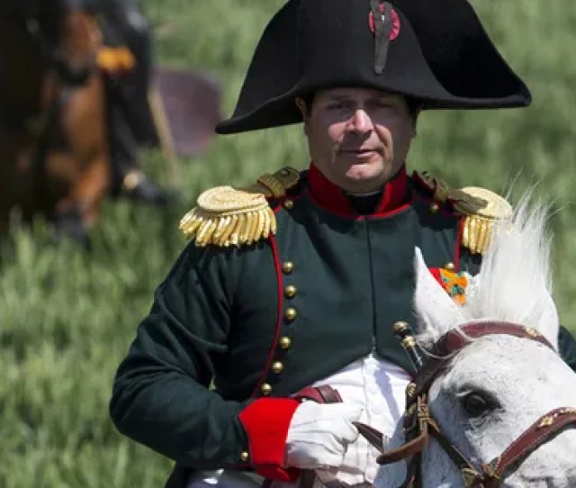 File Photo Frenchman Frank Samson Takes Part In The Re Enactment Of The Battle