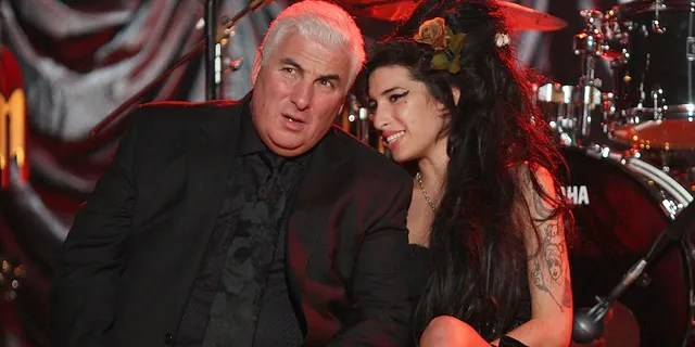Amy Winehouse with her father Mitch.
