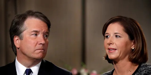 Ashley Kavanaugh defended her husband from the decades-old sexual misconduct allegations brought against him during an exclusive interview with Fox News.