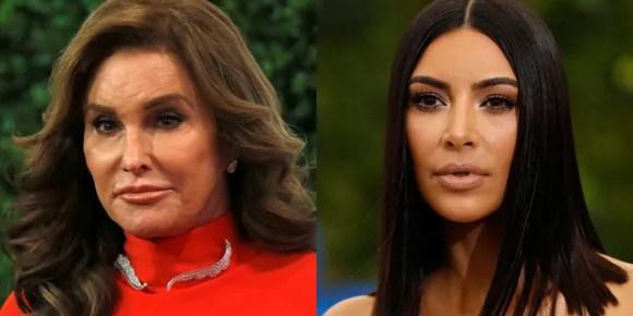 """Kim Kardashian (R) está supostamente """"perturbada"""" pelos comentários recentes de Caitlyn Jenner (L) sobre a reforma da prisão."""