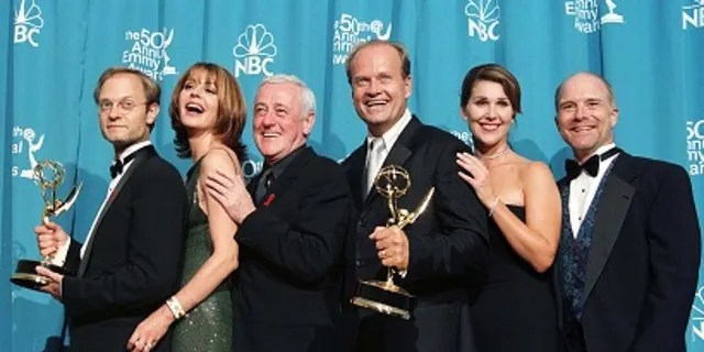 """John Mahoney (third from left) received two Emmy and Golden Globe nominations for his role on """"Frasier."""""""
