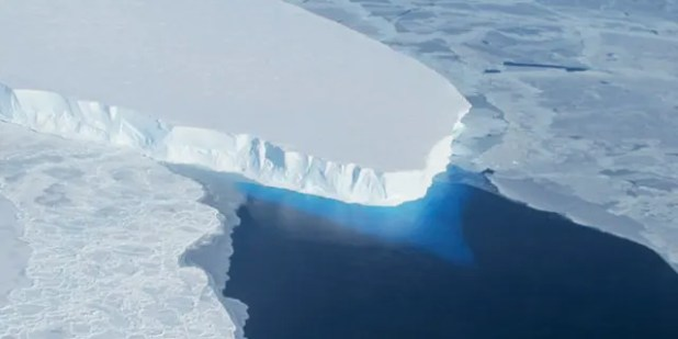 The Thwaites glacier in Antarctica is seen in this NASA image.  (Handout via Reuters / NASA / Reuters)