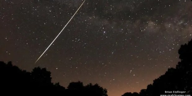 The Lyrid meteors are small pieces of rock that separated from the Thatcher comet.