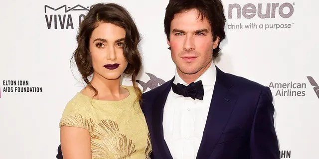 Ian Somerhalder and his wife Nikki Reed.