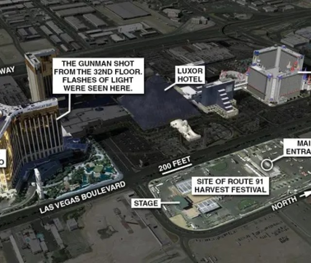 Two Officers Reach The St Floor Of The Casino And Announce The Gunfire Is Coming From Directly Above Them Las Vegas Police Later Say On Wednesday