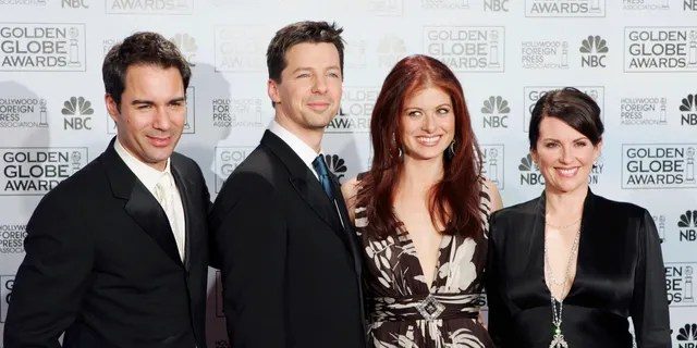 Cast members from the comedy series 'Will & Grace,' from left, Eric McCormack, Sean Hayes, Debra Messing and Megan Mullally.