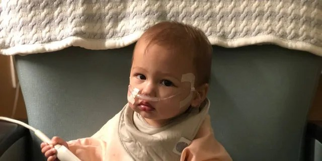 Phoenix was hooked up to a breathing machine to manage his RSV-related symptoms.