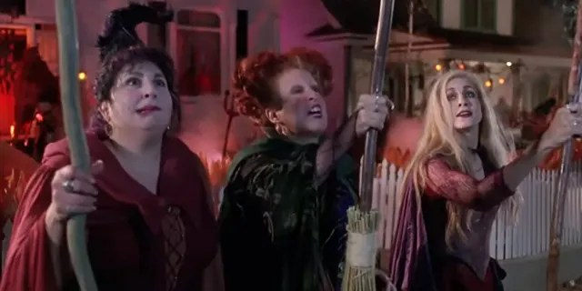 Kathy Nahimy, Bette Midler and Sarah Jessica Parker in the 1993 Disney production Hocus Pocus