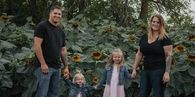 Chelsi and Anthony Dean and their children Kaytlin, 5, and Avri, 1.
