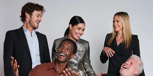 (L-R) Actors Adam Brody, Edi Gathegi, Otmara Marrero, Ron Perlman, and Mira Sorvino of Sony Crackle's