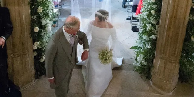 Prince Charles with Meghan Markle on her wedding day.