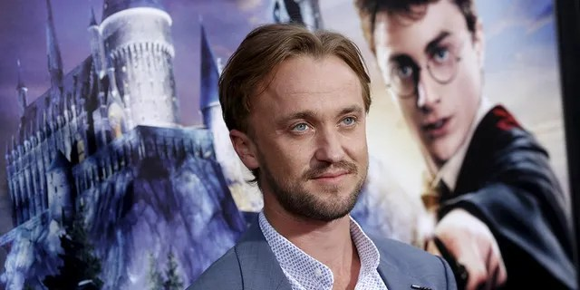 """Actor Tom Felton is seen at a """"Harry Potter"""" event in Universal City, California, April 5, 2016. (Reuters)"""
