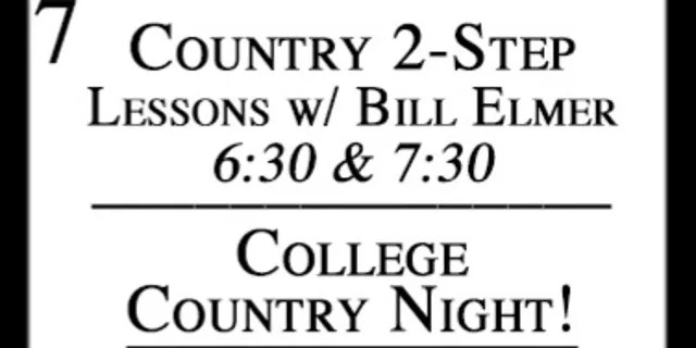 """A listing for Borderline Bar & Grill's """"College Country Night"""" event as shown on the bar's web calendar."""