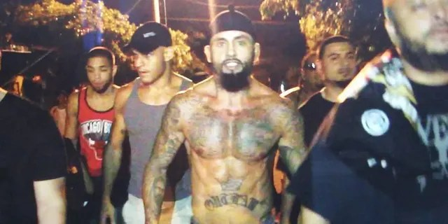"""Rene """"Level"""" Martinez walking through the streets in Nicaragua before defeating Ricardo Mayorga in a fight."""