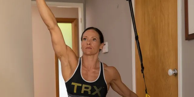 The TRX Home2 System comes with one suspension trainer, a year subscription to the TRX app and a door and suspension anchor to easily set up your workout anywhere you want.