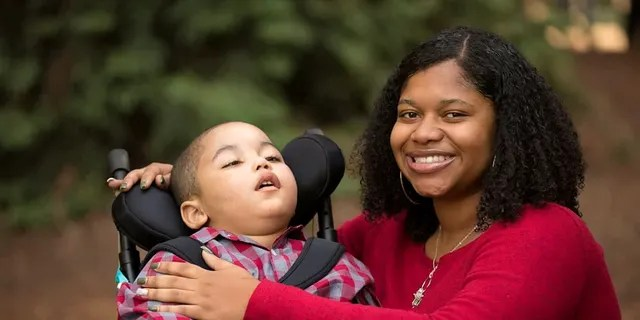 Mom Kamareia Parrish said their goals for the upcoming year include teaching Andre to speak in two-word sentences and start walking independently.
