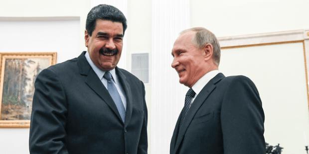 Vladimir Putin and Nicolas Maduro in 2017. (Yuri Kadobnov/Pool Photo via AP, File)