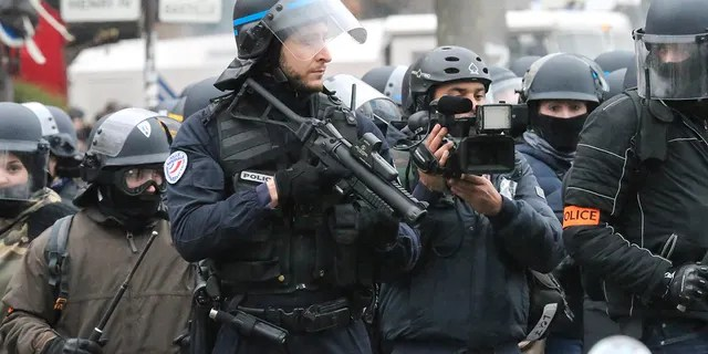 Citizens are outraged as French police have begun using specialized weapons against