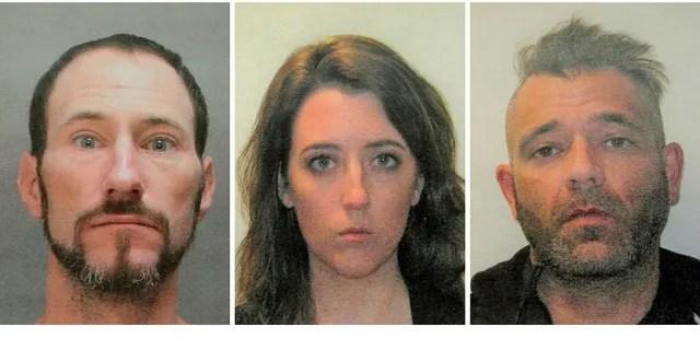 From left: Johnny Bobbitt, Katelyn McClure and Mark D'Amico. (Burlington County Prosecutor's Office)