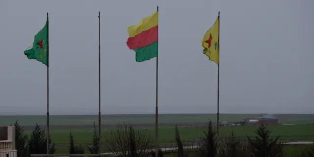 Kurdish flags fly high in their self-declared autonomous region in Syria