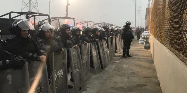 """Piedras Negras' robust response comes as the U.S. promised to take """"all steps"""" to make sure the """"lawless caravan"""" doesn't illegally enter the country."""