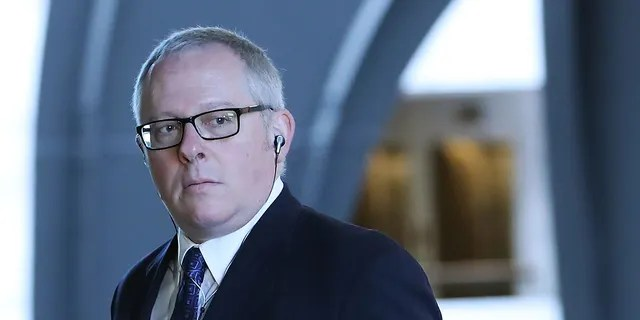 Former Trump campaign official Michael Caputo arrives at the Hart Senate Office building to be interviewed by Senate Intelligence Committee staffers, on May 1, 2018 in Washington. (Photo by Mark Wilson/Getty Images)