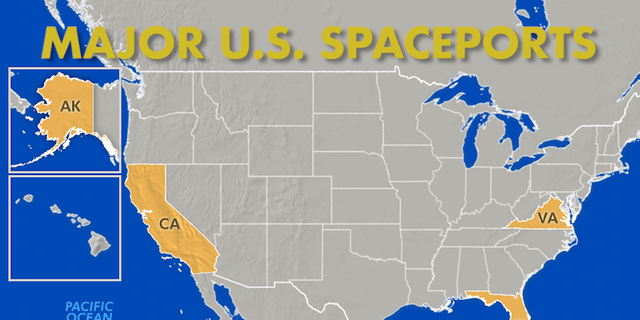 Vandenberg Air Force Base in California, Wallops Flight Facility in Virginia, The Pacific Spaceport Complex in Alaska and NASA's Kennedy Space Center round out the top spaceports across the United States.
