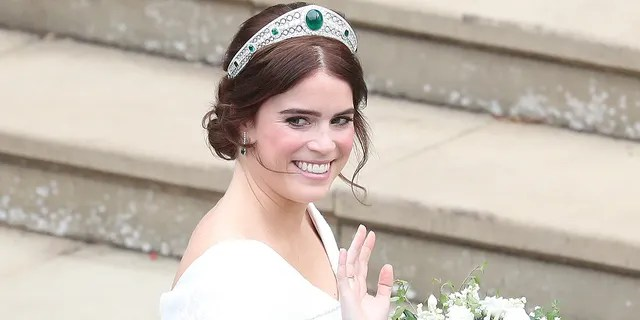 Princess Eugenie at her wedding in October 2018