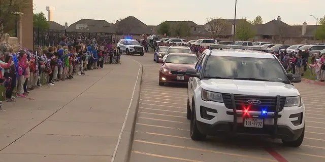 Burleson police and fire escorts in Texas. (Fox 4)